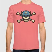 Captain 'Jolly' Rogers  Mens Fitted Tee Pomegranate SMALL