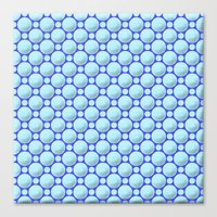 Blue marbles Canvas Print
