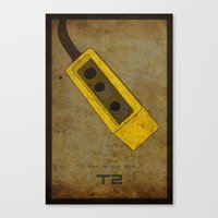 Alternative Terminator 2 Movie Poster Canvas Print