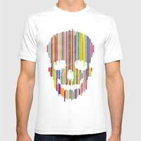 Sʞull Mens Fitted Tee White SMALL