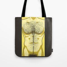 Hairy Torso - Yellow Tote Bag