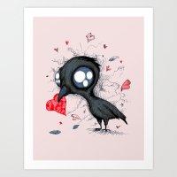 Baby Crow  Art Print