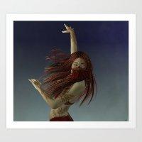 Illusive Dancer Art Print
