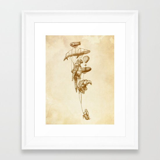 The Helium Menagerie (sepia) Framed Art Print