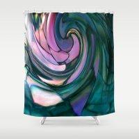 Paua Spiral Shower Curtain