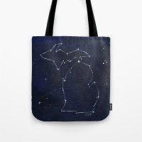 Mitten State Constellation Tote Bag