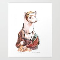 Ermine, After Leonardo D… Art Print