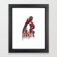 Hawkeye Print Framed Art Print