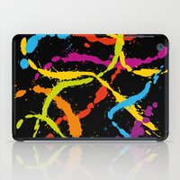 Splattered Rainbow [BLAC… iPad Case