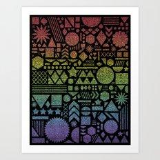 Modern Elements with Spectrum. Art Print
