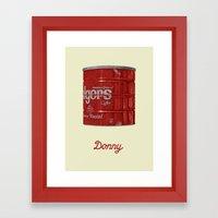 The Lebowski Series: Donny Framed Art Print