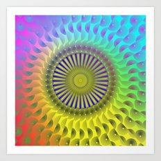 Rosette2 Art Print