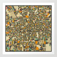 ATLANTA MAP Art Print