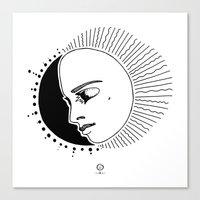 Half Moon Face Canvas Print