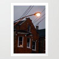 Bridgeport At Twilight Art Print