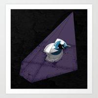 trofej v modrém Art Print