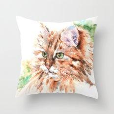 Suki ... Tabby Cat Throw Pillow