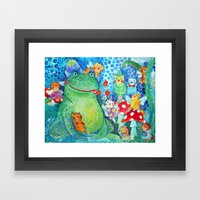 The meal of the Toad Framed Art Print