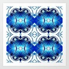 Spiral Down Blue Boy.  Art Print