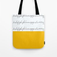 Alphabet-Yellow Tote Bag