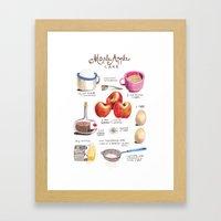 Illustrated Recipes: App… Framed Art Print