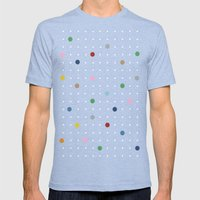 Pin Points on Back Mens Fitted Tee Tri-Blue SMALL