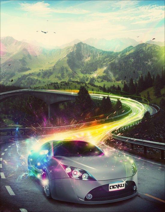 Superhighway Art Print