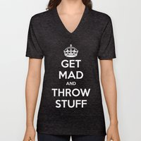 Keep Calm And Get Mad An… Unisex V-Neck