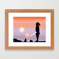 Jedi Horizon Framed Art Print