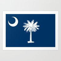 Flag of South Carolina - Authentic version Art Print