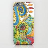 colourful doodle iPhone 6 Slim Case