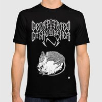 Decapitated by dishwasher II (black) Mens Fitted Tee Black SMALL