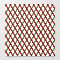 Holiday Ribbon Pattern Canvas Print