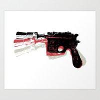 Blaster (Left) Art Print
