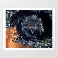 Yellowfang And Firepaw Art Print