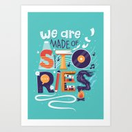 Art Print featuring We Are Made Of Stories by Risa Rodil