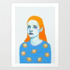 Saturn Girl Art Print