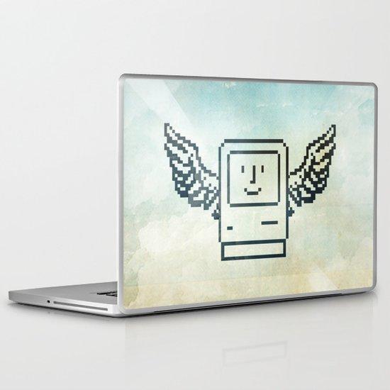 pixel mac with wings Laptop & iPad Skin