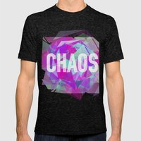 CHAOS Mens Fitted Tee Tri-Black SMALL