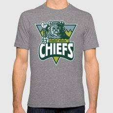 Forest Moon Chiefs - Green Mens Fitted Tee Tri-Grey SMALL