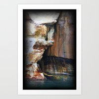 Rocky Crevices Art Print