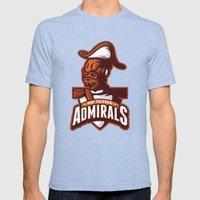Mon Calamari Admirals on Orange Mens Fitted Tee Tri-Blue SMALL