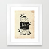 The Gin No.2 Framed Art Print