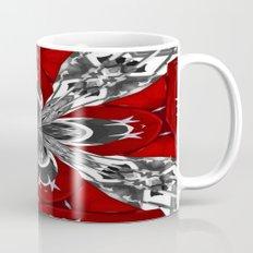 Red Black and White Kaleidoscope Mug
