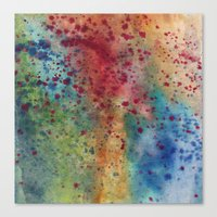 Rainbow Red Blue Speckles Canvas Print