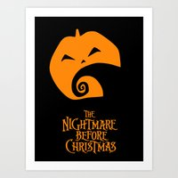 The Nightmare before Christmas Art Print