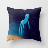 b l u Throw Pillow