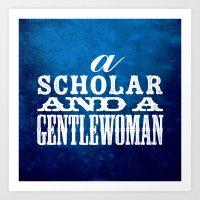 A Scholar and a Gentlewoman Art Print