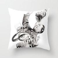 P.O.A.M (Portrait Of A M… Throw Pillow