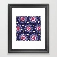 Purple Dahlia Framed Art Print